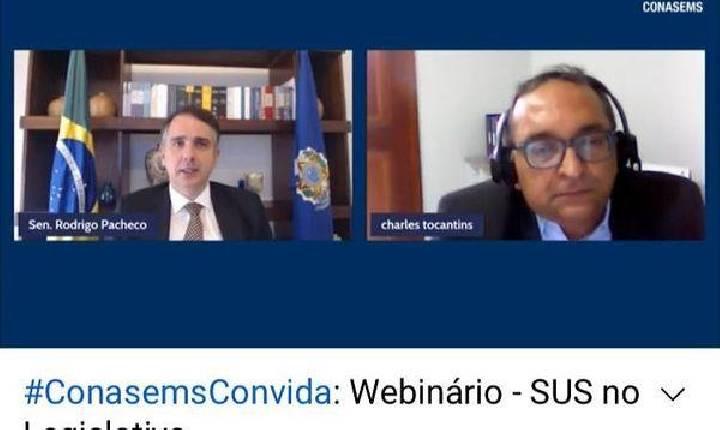 DR. CHARLES TOCANTINS REALIZA WEBNÁRIOS COM PRESIDENTE DO SENADO RODRIGO PACHECO